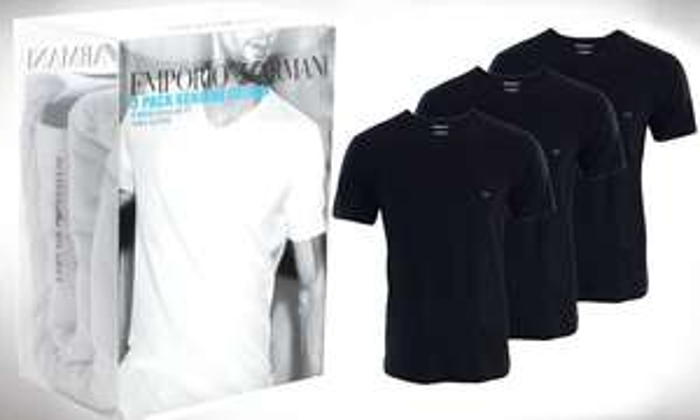 3 Armani shirts voor 39,99 euro @ Groupon