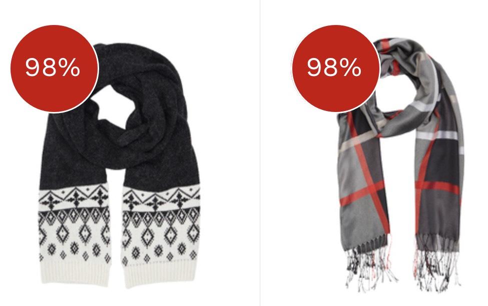 Sjaals voor 95 cent @miinto