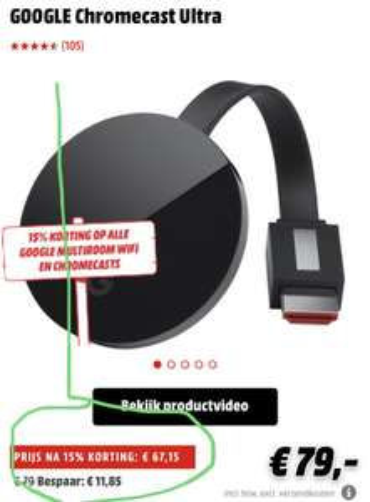 Chromecast ultra @ mediamarkt