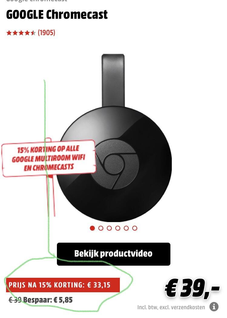 Google chromecast @ mediamarkt