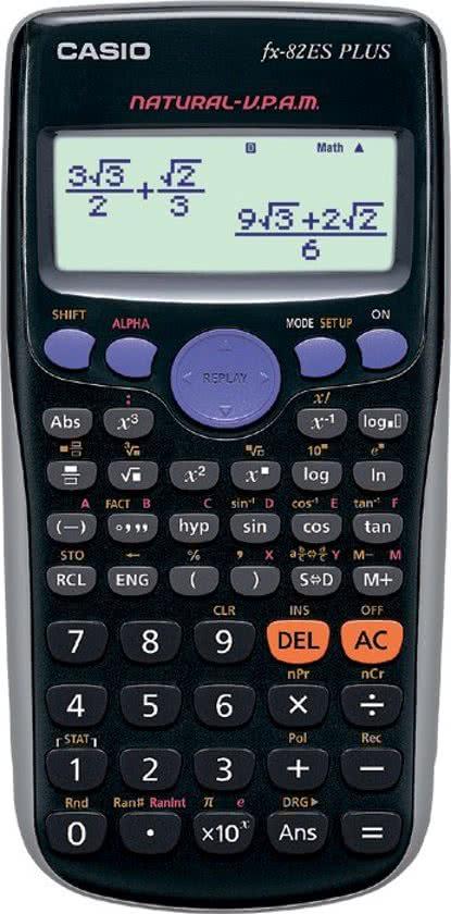 Casio FX 82 ES Plus Wetenschappelijke rekenmachine voor €8 @ Mycom