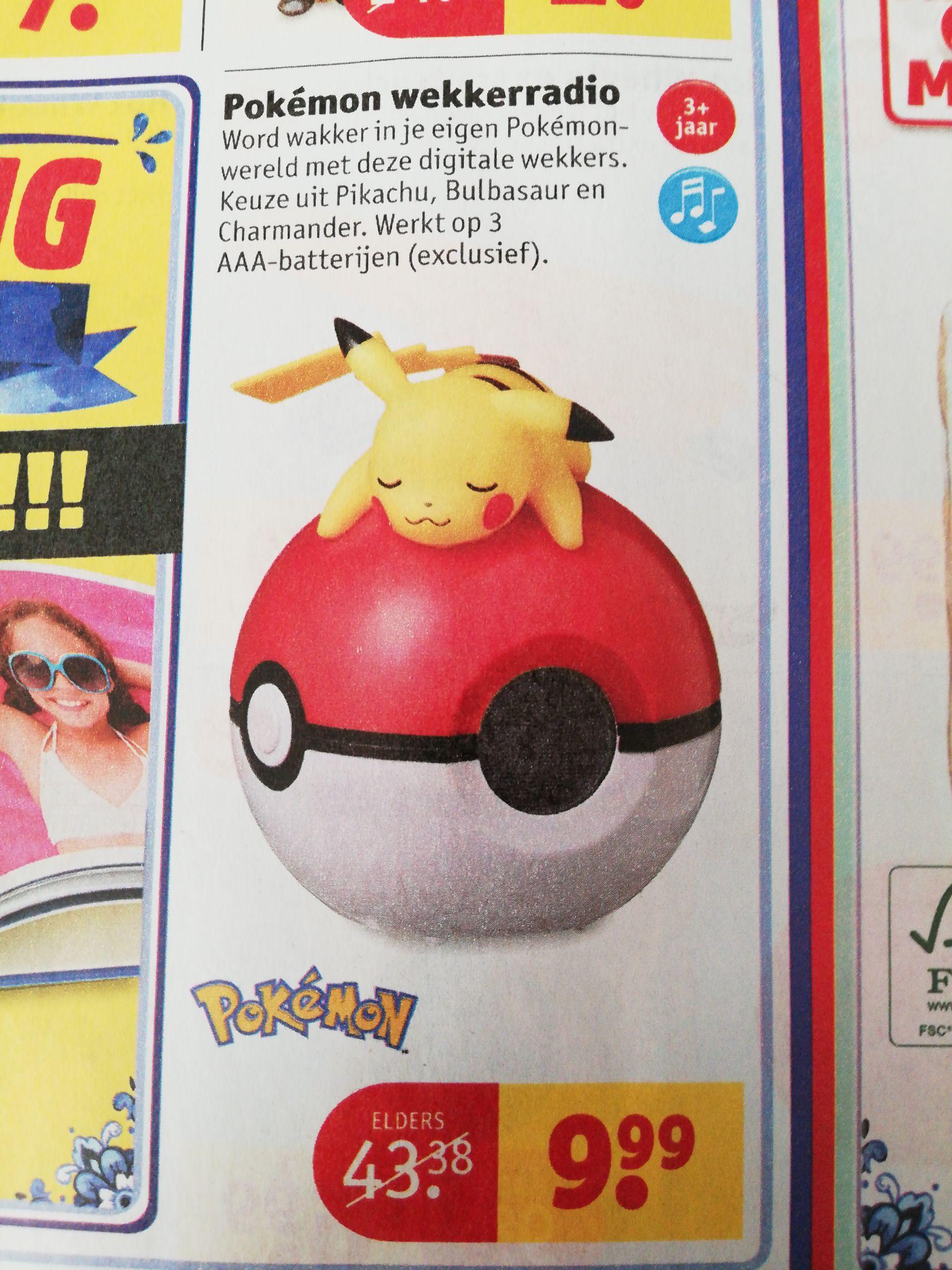 Pokémon wekkerradio @kruidvat