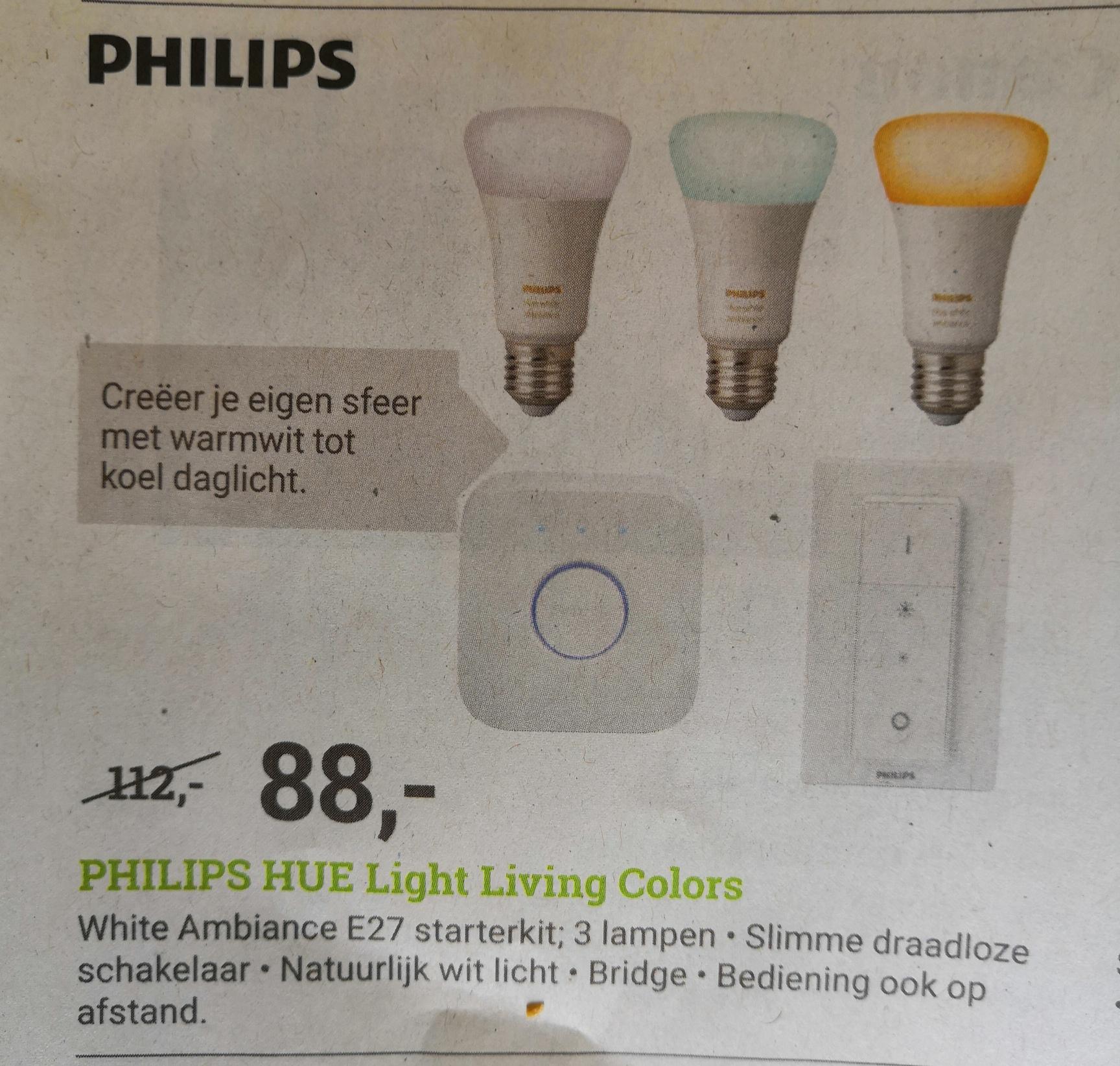 Philips Hue sfeerverlichting White Ambiance E27 Starterkit @BCC