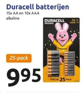 25 Duracell batterijen Action