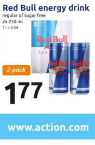 2-pack Red Bull voor 1,77 @Action