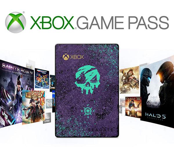 Seagate Sea of Thieves (2TB) externe harde schijf + 1 maand Xbox Game Pass en Midnight Blunderbuss DLC @ Amazon.de