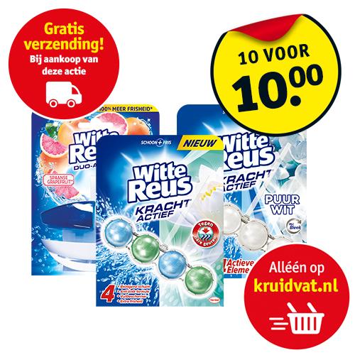 Witte Reus toiletblokken 10 voor €10,- + gratis verzending