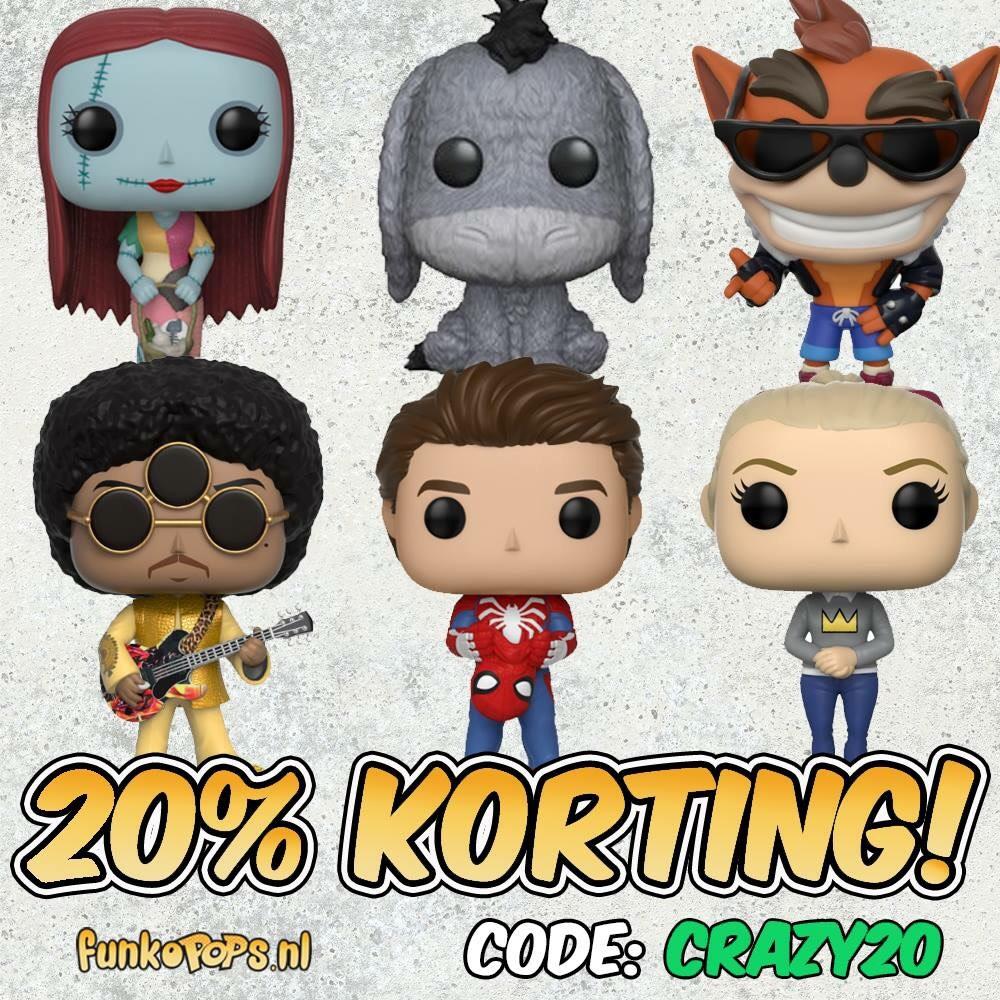 20% korting op je bestelling || Funkopops.nl