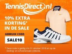 10% extra korting op de sale bij TennisDirect