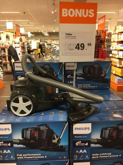 Philips zakloze stofzuiger elders €100-€149 @ Albert Heijn Eemplein Amersfoort