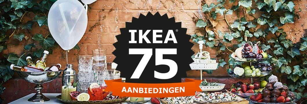 IKEA 75 jaar - verschillende aanbiedingen in oktober