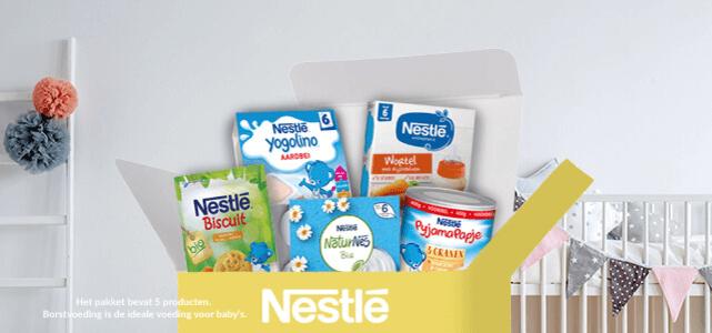 Nestlé babypakket: t.w.v. €12,51 nu voor €2,50 inclusief verzendkosten @ Scoupy