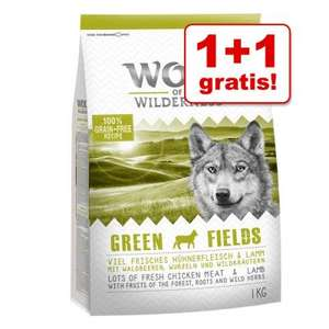 1 + 1 gratis! 2 x 1 kg Wolf of Wilderness droogvoer