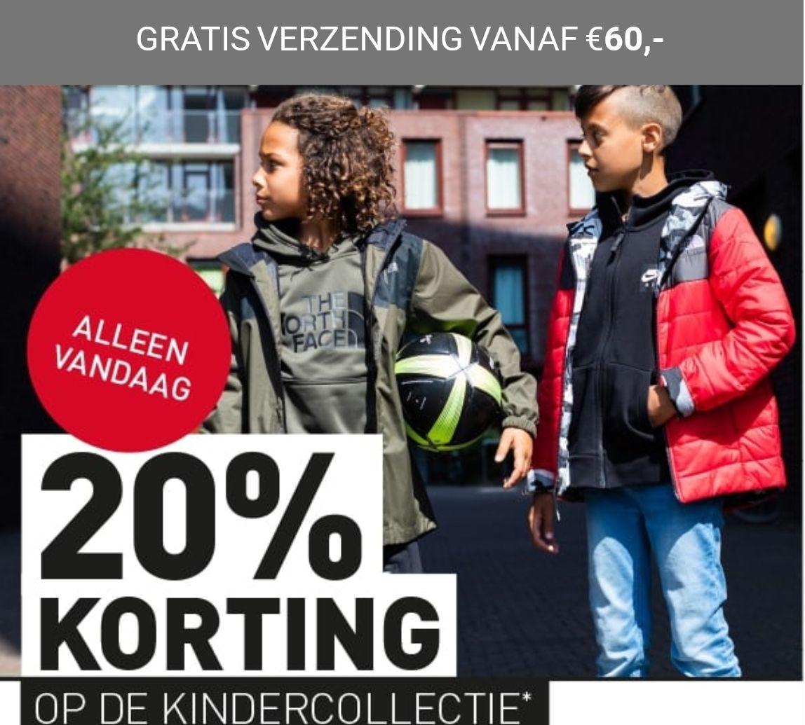 Kidsday: 20% korting op de kindercollectie! Online only