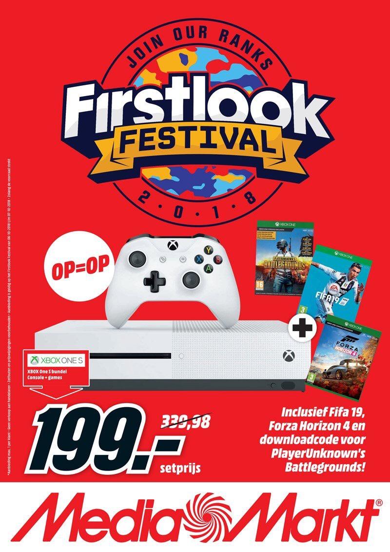 Xbox One S (500GB) + FIFA19, Forza Horizon 4 & PUBG
