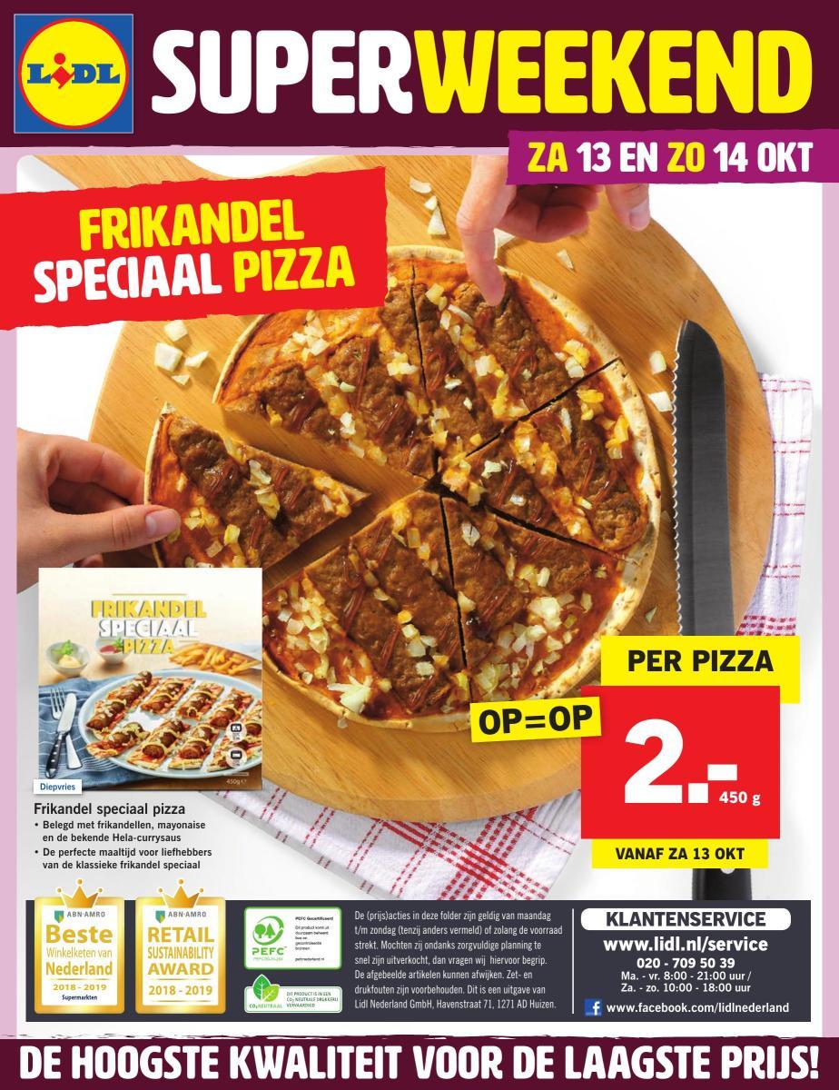 Frikandel speciaal pizza voor €2 @ Lidl