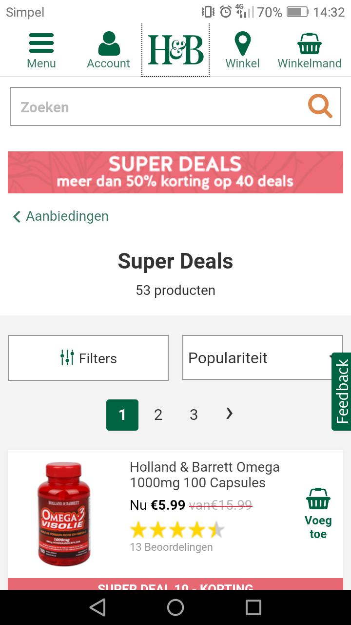Holland en Barret meer dan 50% korting op 40 deals