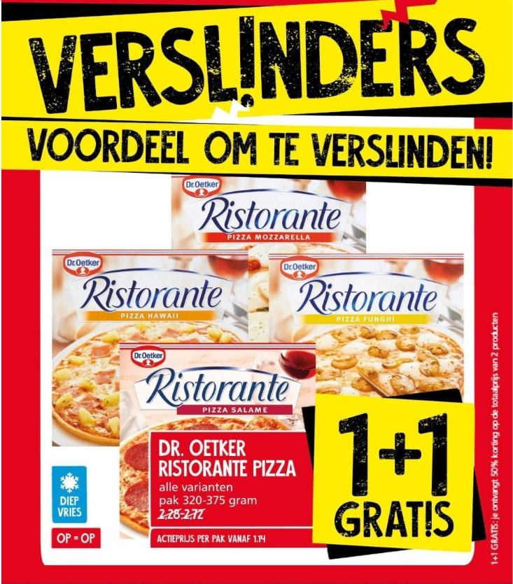 Jan Linders: 1+1 Dr. Oetker Ristorante pizza (en andere aanbiedingen)