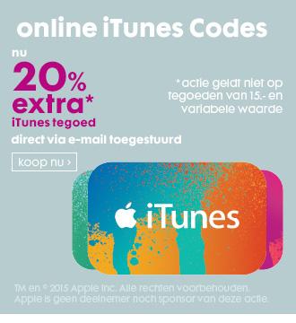 20% extra tegoed bij digitale iTunes codes @ HEMA