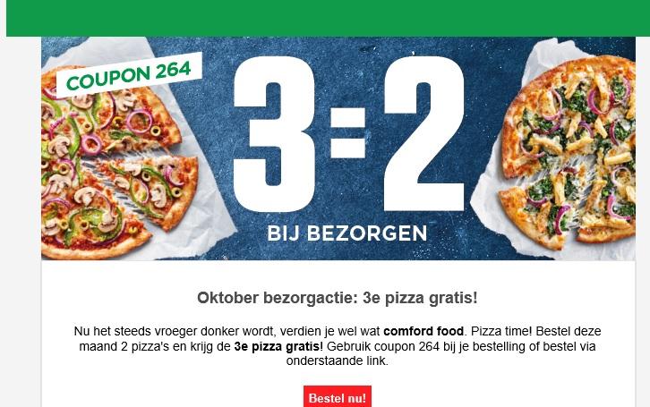 New York Pizza 3 Pizza's kopen 2 betalen