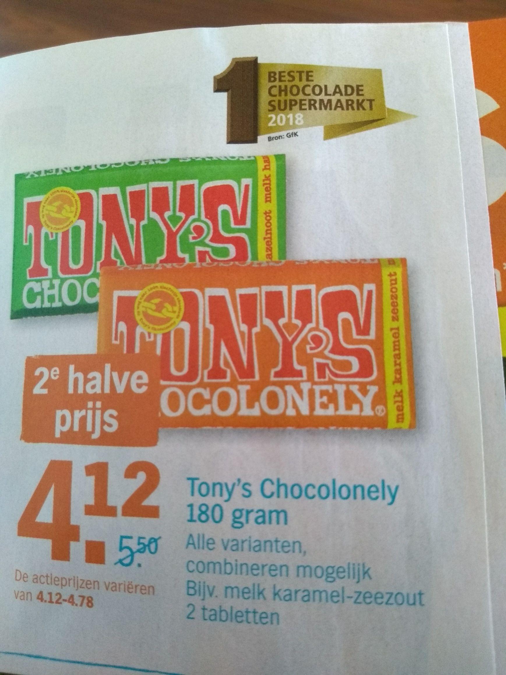 Tony's Chocolonely 2e halve prijs