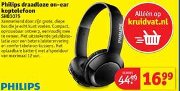 Philips SHB3075 Bluetooth koptelefoon