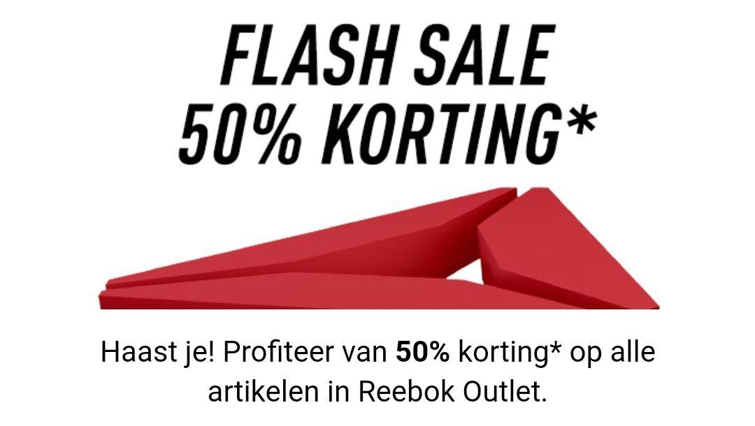 FLASH SALE: FINAL COUNTDOWN Profiteer van50%korting* op alle artikelen in Reebok Outlet