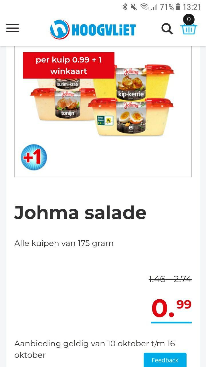 Johma salade 99 cent @hoogvliet