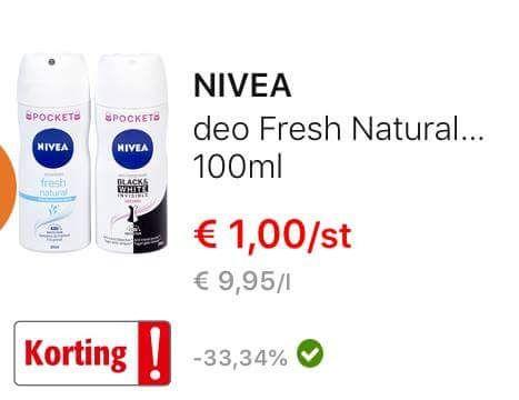 [België] Nivea vanaf €0,17 per stuk
