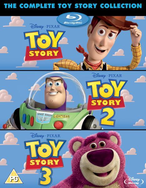 Toy Story Triple Pack + Bonus Disc - Blu-ray