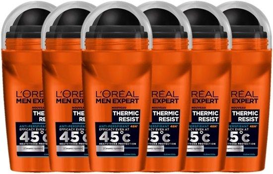 [Prijsfout?] L'Oréal Paris Men Expert Thermic Resist Deodorant Roller (6 x 50 ml) @ Bol.com