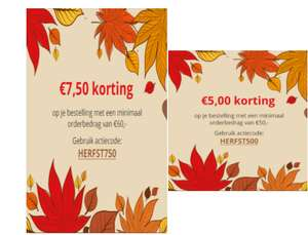 Kortingscode  € 7,50 of € 5,00 korting @ drogisterij.net