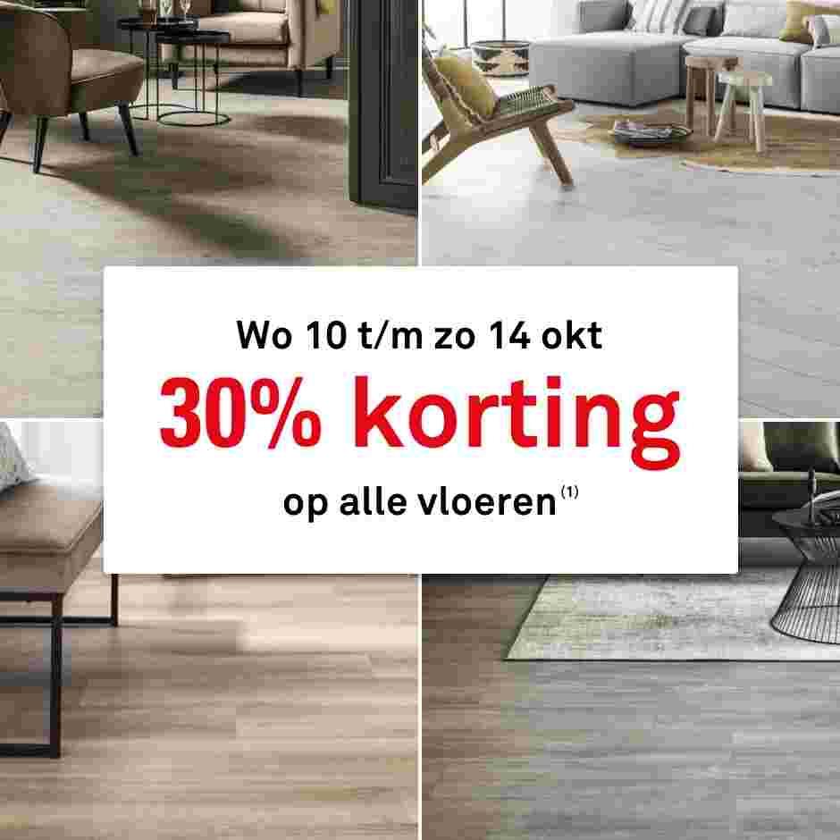 30% Korting op alle vloeren @ Karwei.nl