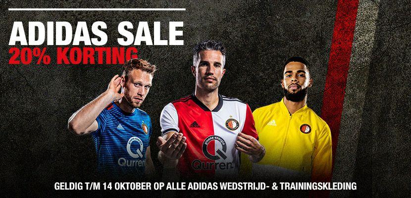 20% korting op alle seizoenskleding 18-19 @ Feyenoord Fanshop