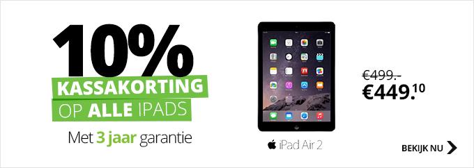10% korting op alle iPads @ Dixons