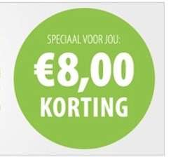 €8,- korting bij bestelling vanaf €49,- (zooplus)