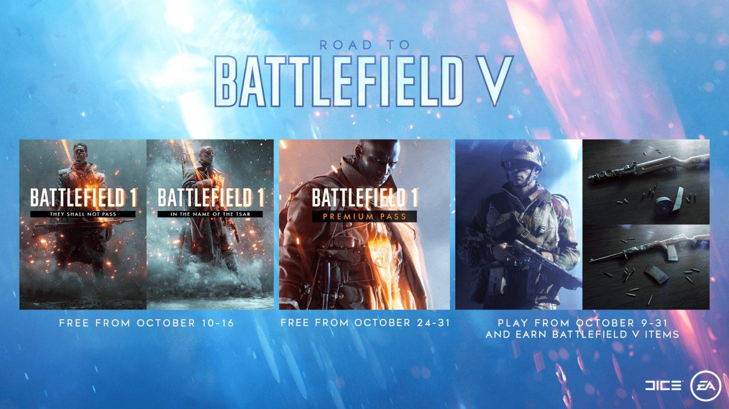 Battlefield 1 gratis DLC/Premium overzicht [PS4,PC,XOne]