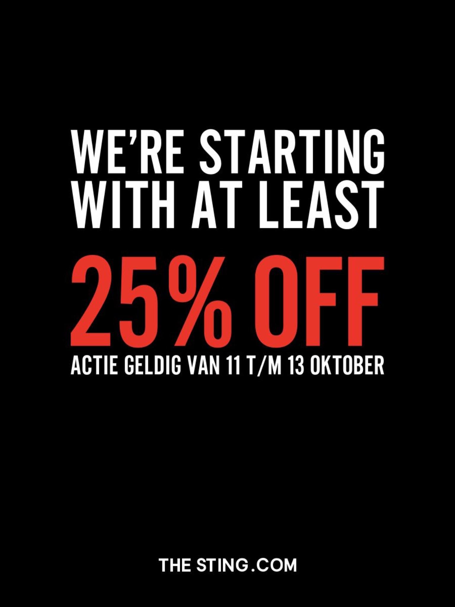Opening Sting Gouda 25% korting 11 t/m 13 oktober