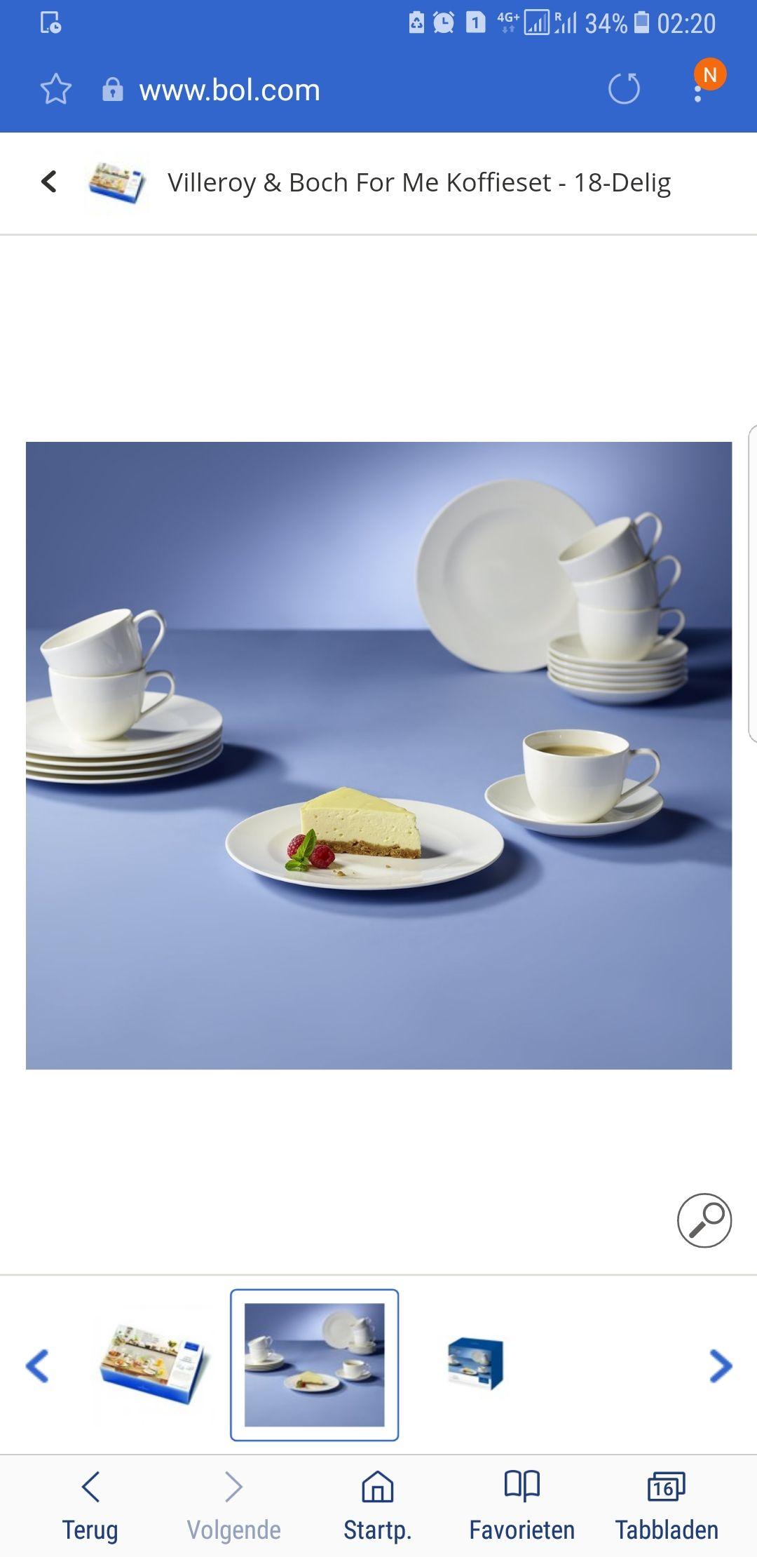 Villeroy & Boch For me Koffieset 18 delig