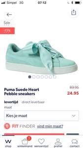 Puma suède heart pebble sneakers maat 39