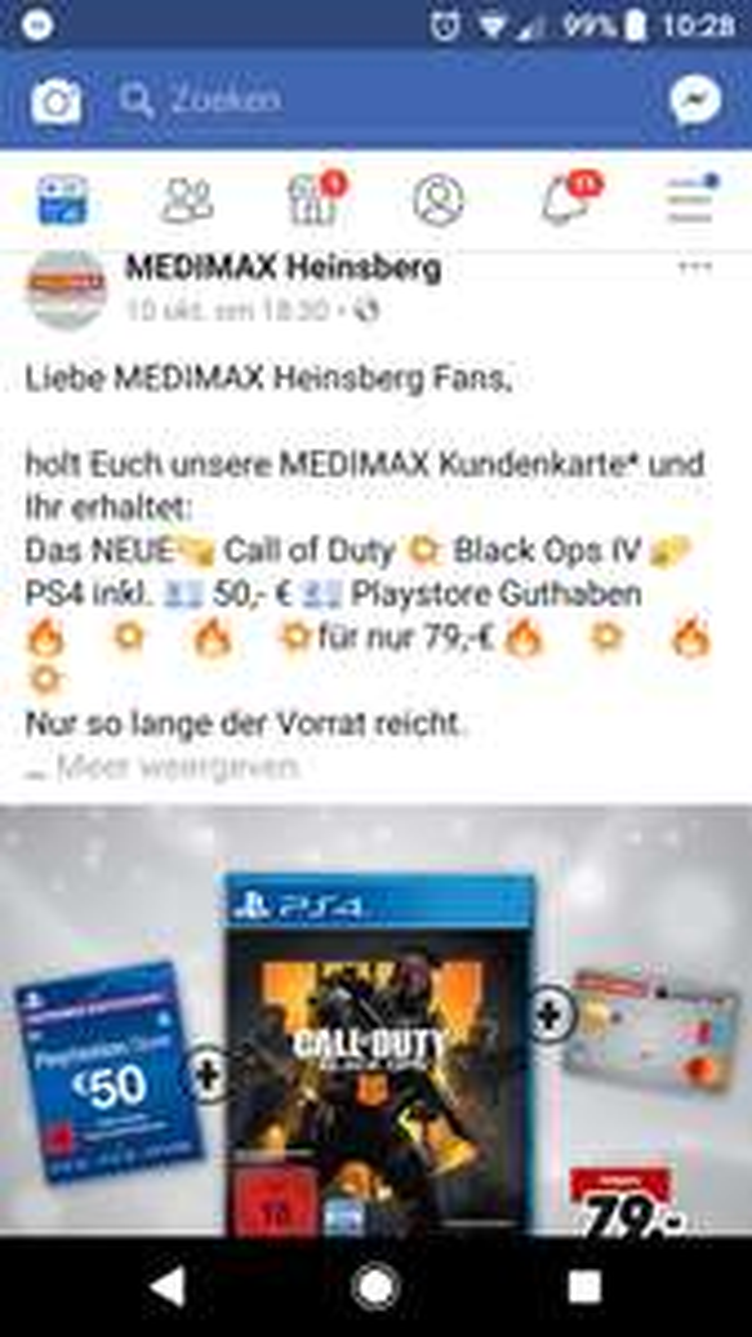 [Grensdeal] Black Ops 4 PS4 + €50 Playstation tegoed @ Medimax Heinsberg