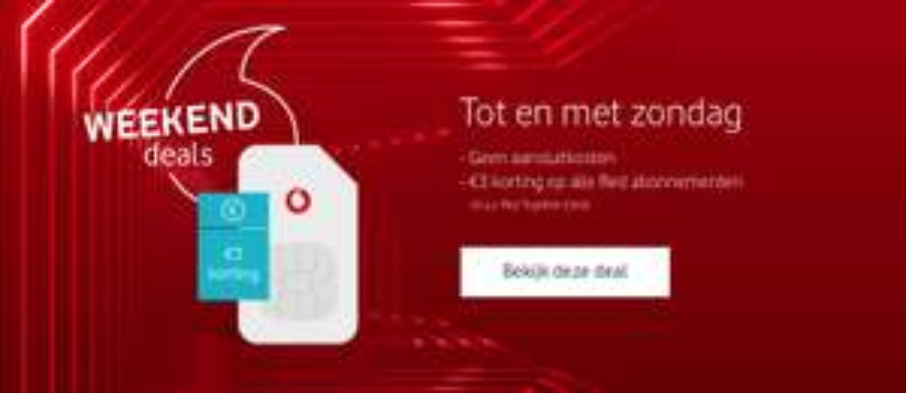 Vodafone weekend deals, Samsung Galaxy  S9(+) 96 euro goedkoper + 3 euro factuur korting en tot 150 euro cashback.