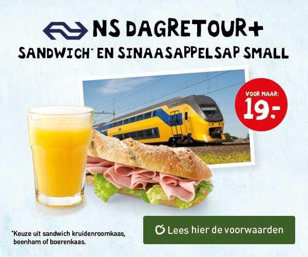 NS Dagretour + Lunch bij La Place voor €19 @ Spoordeelwinkel