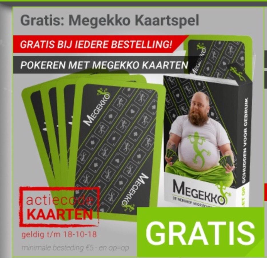 Gratis Megekko kaartspel bij iedere aankoop op Megekko.nl