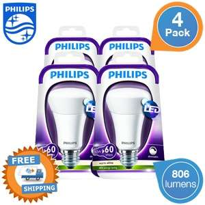 4 Philips E27 dimbare LED-lampen voor  € 30 @ iBOOD