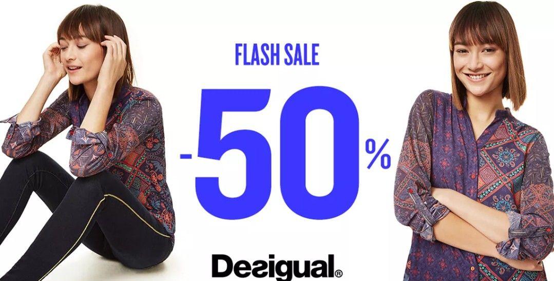 Flash sale bij desigual 50% korting op geselecteerde items