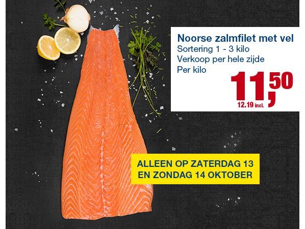 Weekend deal - 1kg zalmfilet voor €12,19 @Makro