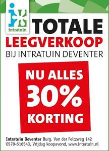 30% korting Intratuin Deventer