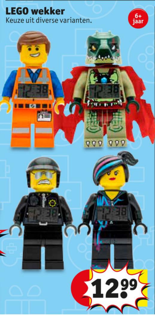 Lego wekker @Kruidvat voor €12.99