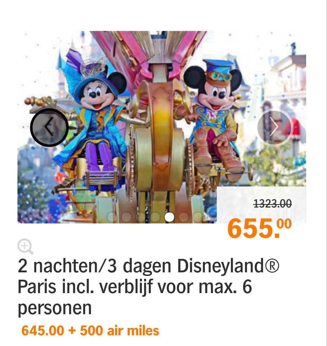3 dagen/ 2 nachten Disneyland Paris, vanaf €109 pp! (Bij 6 pers.)